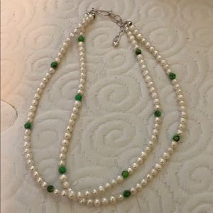 Jewelry - Pearl/turquoise Costume Necklace.